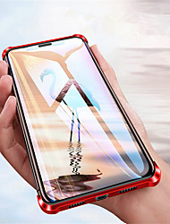 Недорогие -чехол для apple iphone 11 pro 11 pro max 11 магнитные чехлы для всего тела сплошное цветное закаленное стекло х / х х х х макс 7 плюс / 8 плюс 8/7