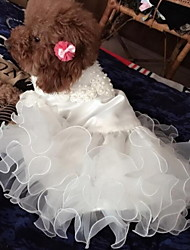 cheap -Dogs Dress Dog Clothes White Costume Baby Small Dog Polyster Geometric Wedding XS S M L XL