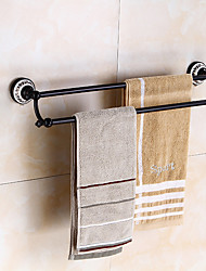cheap -Towel Bar Creative / Multifunction Antique / Traditional Brass / Ceramic Bathroom Double Wall Mounted