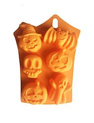 Недорогие -6 отверстий хэллоуин летучая мышь призраки силиконовые формы торт Хэллоуин серия помадка выпечки плесень поделки мыло плесень