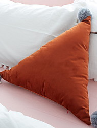 cheap -1 pcs Cotton / Linen Pillow Cover, Solid Colored Throw Pillow