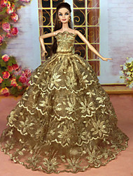 cheap -Doll Dress Party / Evening For Barbiedoll Sequin Polyester Dress For Girl's Doll Toy / Kids