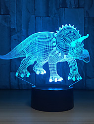 cheap -Herbivorous 3D Dinosaur LED Lamp Night Lights Novelty Illusion LED Night Lamp with USB Cable Birthday Christmas Party Gift
