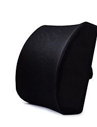 cheap -Car memory foam waist support black back pad 3D mesh cover balanced and sturdy designed for tilting seats
