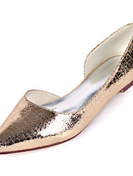 cheap -Women's Flats Flat Heel Square Toe PU Minimalism Fall / Spring & Summer Champagne / Light Purple / Silver / Party & Evening