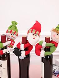 cheap -1pcs Christmas Accessories Wine Bottle Santa Claus Snowman Bottle Set New Year  Christmas Dinner Decoration