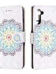 Недорогие -чехол для samsung galaxy note 9 / galaxy note 10 / galaxy note 10 plus кошелек / визитница / флип чехлы для тела цветок искусственная кожа