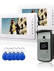 cheap -Wired 7 Inch Hands-free 800*480 Pixel One To One Video Doorphone Intercom System Kit Electric Strike Lock Wireless Remote Control Unlock Remote Control For Access Control System