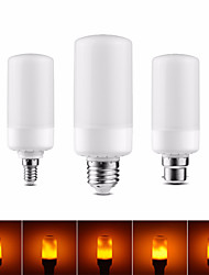 cheap -1pc 3 Flame Modes Lights E27 E26 E14 E12 B22 LED Flame Effect Light Bulb 5W Christmas Emulation Flickering Halloween Halloween Decoration Lamp LED Burning Light Flickering Flame 85-265 V