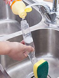 cheap -Dish Wand Soap Dispenser Scrubber Cleaner Dish Wand Brush Kitchen Cleaning Tools