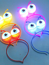 cheap -LED Light Luminous Halloween Christmas Vocal Concert Props Supplies Aliens Eyes Head Hair Hoop Band Party Decoration