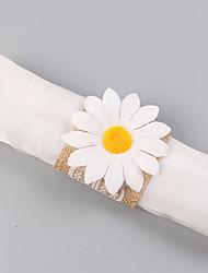 cheap -100% Linen Wedding Napkins - 4 pcs Napkin Rings Wedding / Festival Classic Theme / Creative