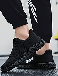 cheap -Women's Athletic Shoes Flat Heel Round Toe Mesh Running Shoes Fall & Winter Black / White