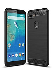 cheap -Case For Google Pixel 3 / Google Pixel 3 XL / Google Pixel 3a XL Shockproof / Ultra-thin Back Cover Solid Colored Carbon Fiber Case For Google Pixel 3A