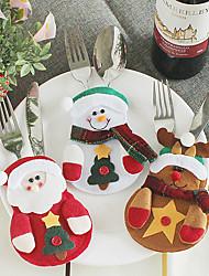 Недорогие -рождественские украшения столовых приборов сумка ресторан отель санта снеговик лось креативный набор столовых приборов