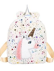 cheap -Boys' / Girls' Feathers / Fur / Glitter Rabbit Hair Kids' Bag Character Black / White / Blushing Pink