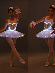 cheap -Ballet LED Layered Tutu Bubble Skirt Under Skirt Women's Girls' Kid's Tulle Costume White / Blushing Pink / Blue Vintage Cosplay Party Halloween Performance Princess / Dress / Dress