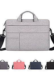 cheap -11.6 Inch Laptop / 13.3 Inch Laptop / 14 Inch Laptop Shoulder Messenger Bag / Briefcase Handbags Canvas Solid Color Unisex Water Proof Shock Proof