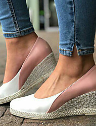 cheap -Women's Heels Wedge Heel Pointed Toe Lace / PU Sweet / Minimalism Spring &  Fall / Spring & Summer Pink / Color Block