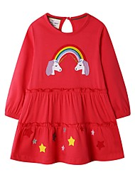 cheap -Kids Girls' Cartoon Dress Red