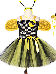 cheap -Popular Hand Made Princess Baby Girls Bee Tutu Dresses With Wings Headband Magic Stick
