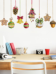 cheap -Decorative Wall Stickers - Plane Wall Stickers / Holiday Wall Stickers Shapes / Christmas Decorations Living Room / Bedroom / Kitchen