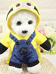 cheap -Dog Outfits Character Holiday Halloween Winter Dog Clothes Yellow Costume Polyster XS S M L XL XXL