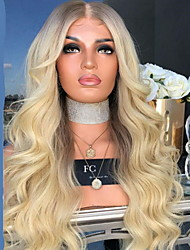 cheap -Synthetic Wig Curly With Bangs Wig Blonde Medium Length Light golden Synthetic Hair 70 inch Women's Women Blonde