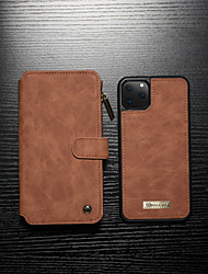 cheap -CaseMe Case For Apple iPhone 11 / iPhone 11 Pro / iPhone 11 Pro Max  Detachable 2 in 1 Wallet Flip Phone Case with Zipper Coin Bag Card Holder Shockproof Phone Cover