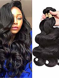 cheap -3 Bundles Brazilian Hair Body Wave Remy Human Hair 100% Remy Hair Weave Bundles Natural Color Hair Weaves / Hair Bulk Extension Bundle Hair 8-28 inch Natural Color Human Hair Weaves Extention Sexy