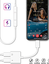 cheap -2 in 1 Lightning to Dual Splitter Converter Audio Earphone Music and Charger Cable Adapter for iPhone 11 /11 Pro/11 Pro max/X XS XR/XS MAX/7 8 Plus