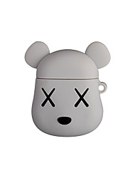 cheap -Airpods Violent Bear Headphones Set 4 Colors Split Cartoon Apple Second Generation Universal Silicone Charging Box Protection 1Pc