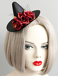 cheap -Women's Dainty Vintage Trendy Fabric Alloy Hat Hair Clip Halloween Theme Party