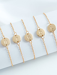 cheap -Personalized Customized Bracelet Number Gift Daily Holiday 1pcs Rose Gold Gold Silver / Laser Engraving