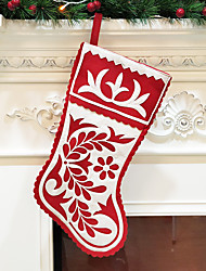 cheap -Christmas Socks Christmas Gifts Non-woven Embroidery Large Christmas Socks Gift Bag Decoration