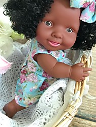 cheap -10 inch Black Dolls Reborn Doll Baby Girl Gift Classic Parent-Child Interaction ABS+PC F558 with Clothes and Accessories for Girls' Birthday and Festival Gifts / Kids