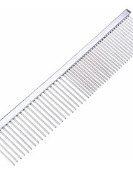 cheap -Dog Cat Pets Grooming Stainless Steel Comb Portable Lightweight Pet Grooming Supplies 1pc