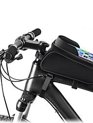cheap -1 L Cell Phone Bag Bike Frame Bag Top Tube Bike Saddle Bag Waterproof Zipper Outdoor Phone / Iphone Bike Bag PU Leather Bicycle Bag Cycle Bag Cycling Motorcycle