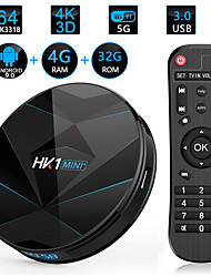cheap -HK1 mini Smart TV Box 4GB RAM 32GB ROM  Android 8.1 Amlogic S905X2 2.4G 5G WiFi Bluetooth H.265 4K HD  Media Player