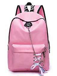 cheap -Large Capacity Nylon Sashes / Ribbons Commuter Backpack Letter Daily Black / Sky Blue / Blushing Pink