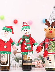 cheap -Merry Christmas Santa Wine Bottle Bag Cover Clothes Xmas Festival Party Table Decor Gift Bottle Dress Up Covers Decorations Gift-1Pcs