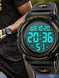 cheap -Men's Sport Watch Japanese Quartz Silicone Black / Red / Orange 30 m Water Resistant / Waterproof Casual Watch Cool Digital Classic New Arrival - Black Orange Green Two Years Battery Life