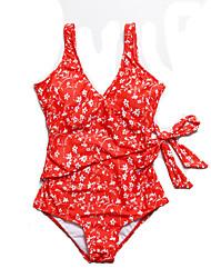 abordables -Femme Maillot de bain Maillots de Bain Respirable Séchage rapide Sans Manches Natation Snorkeling Sports aquatiques Peinture Eté