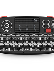 cheap -Rii i4 Wireless Bluetooth 2.4Ghz USB Dual Mode Air Mouse Mini Keyboard Mini Size Rechargeable White Backlit 71 pcs Keys