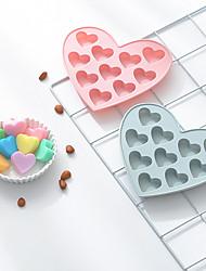 Недорогие -10 отверстий 3d маленькое любовное сердце силиконовые формы для тортов diy выпечки желе конфеты шоколад мыло формы фондант торт отделочных работ