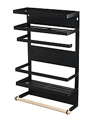 cheap -Refrigerator Shelf Wall mounted Kitchen Spice Rack Multi-Function Magnetic Frame Storage Rack