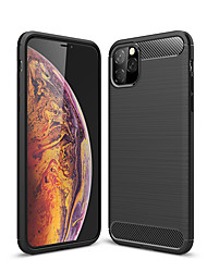cheap -Case For Apple iPhone 11 Pro Max / XS Max / XR / X Shockproof / Dustproof Back Cover Solid Colored Carbon Fiber