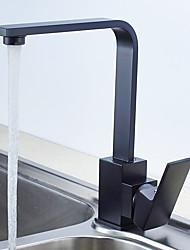 cheap -Kitchen faucet - Single Handle One Hole Standard Spout Contemporary Kitchen Taps