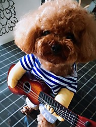 cheap -Dogs Cats Pets Costume Winter Dog Clothes Blue Halloween Costume Baby Small Dog Polyster Striped Funny M