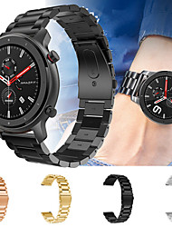cheap -Metal Stainless Steel Watch Band Wrist Strap for Xiaomi Huami Amazfit GTR 47mm / Amazfit Stratos 2/2S / Amazfit Pace Smart Watch Bracelet Wristband Replaceable Accessories